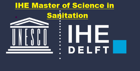IHE Master of Science Programme in Sanitation scholarship