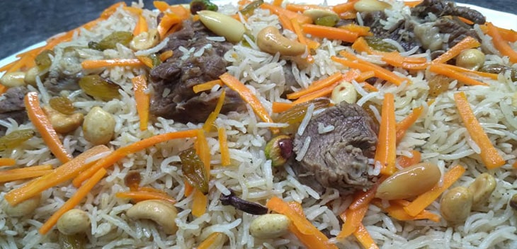 plov with roasted carrots