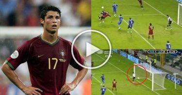 Cristiano Disallowed Goal